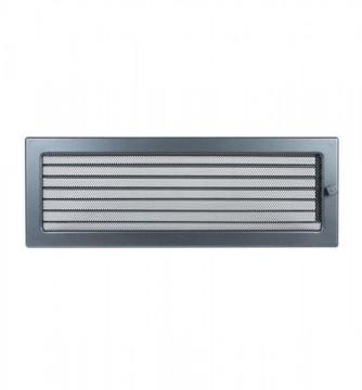Grila de ventilatie metalica cu inchidere-negru grafit/170 x 490