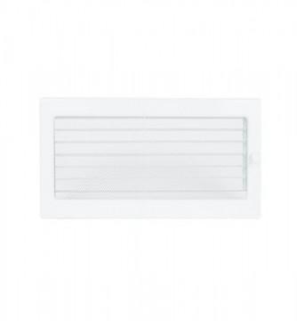 Grila de ventilatie metalica cu inchidere-alb/300 x 170