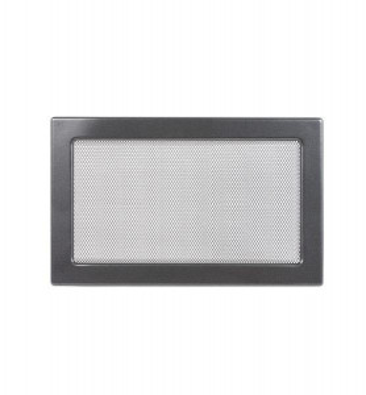 Grila de ventilatie metalica-negru-grafit/220 x 300