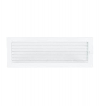 Grila de ventilatie metalica cu inchidere-alb/490 x 170