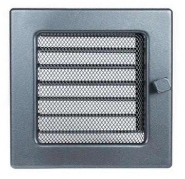 Grila de ventilatie metalica cu inchidere-negru grafit/170 x 170