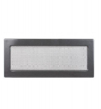 Grila de ventilatie metalica-negru-grafit/220 x 450