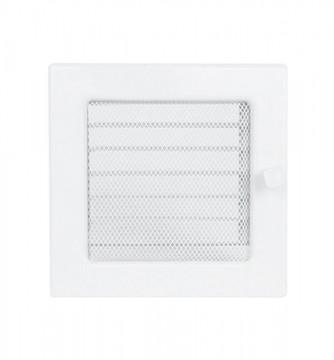 Grila de ventilatie metalica cu inchidere-alb/220 x 220