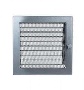Grila de ventilatie metalica cu inchidere-negru grafit/220 x 220