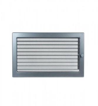 Grila de ventilatie metalica cu inchidere-negru grafit/220 x 300