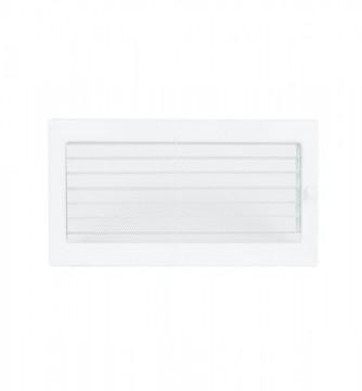 Grila de ventilatie metalica cu inchidere-alb/370 x 170