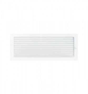 Grila de ventilatie metalica cu inchidere-alb/450 x 220
