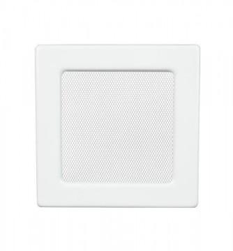 Grila de ventilatie metalica-alb/220 x 220
