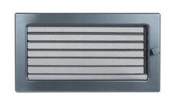 Grila de ventilatie metalica cu inchidere-negru-grafit/370 x 170