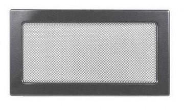 Grila de ventilatie metalica-negru-grafit/370 x 170