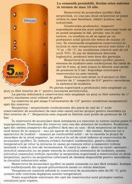 Rezervor acumulare PUFFER CELSIUS 1500 LITRI