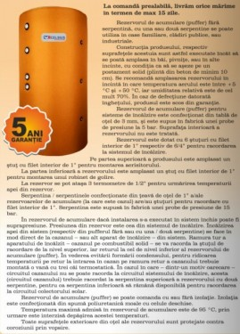 Rezervor acumulare PUFFER CELSIUS 4000 LITRI