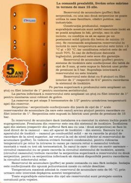 Rezervor acumulare PUFFER CELSIUS cu doua serpentine 500 LITRI