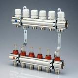Kit distribuitor incalzire in pardoseala cu debitmetre TUR/RETUR - 6 cai