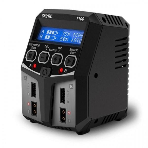 Incarcator Acumulatori SKYRC T100 Dual 2x50W LiPo NiMh LiFe 3