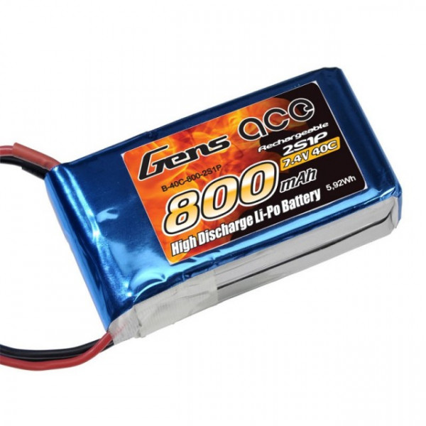 Acumulator LiPo GENS ACE 800 mAh 7.4V 2S1P Softcase