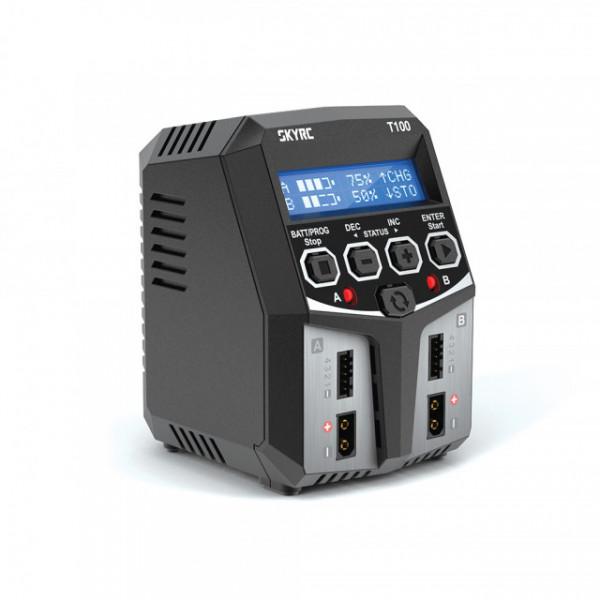 Incarcator Acumulatori SKYRC T100 Dual 2x50W LiPo NiMh LiFe 5