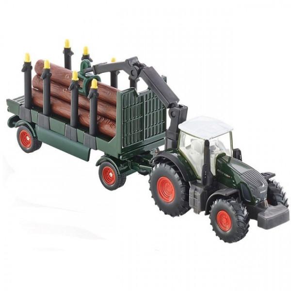 Macheta Tractor Fendt cu remorca, scara 1:87, SIKU