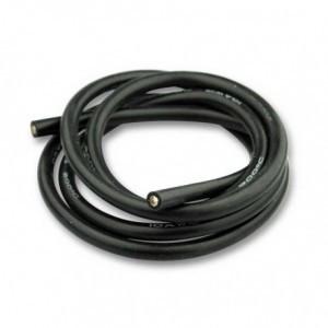 Cablu electric cu invelis siliconic pur, 10 Awg - 1m lungime, Negru