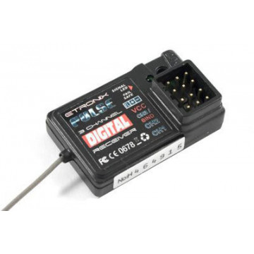 Receptor (Receiver) cu 3 canale Etronix Pulse 2.4ghz - pentru radiocomanda Pulse EX2 Sport 2(ET1060)