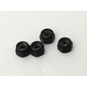 Piulite roti aluminiu 2mm (negre) - 4buc