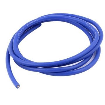 Cablu electric cu invelis siliconic 14 AWG - albastru, 1m lungime