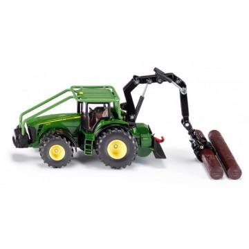 Macheta tractor forestier diecast John Deere, SIKU, scara 1/50