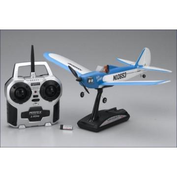 Aeromodel Kyosho Minium Flybaby, culoare albastra - 3 canale RTF