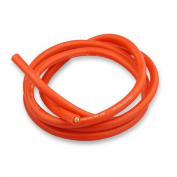 Cablu electric cu invelis siliconic pur, 10 Awg - 1m lungime, Rosu