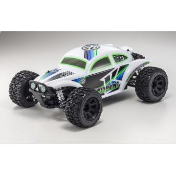Kyosho Mad Bug 1/10 4WD VE RTR, culoare alba
