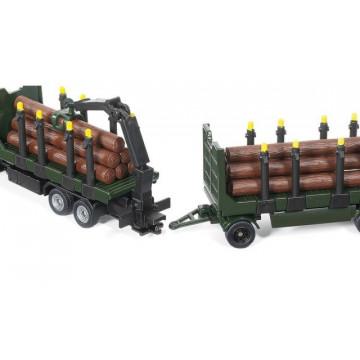 Macheta camion forestier Mercedes Zetros SIKU, scara 1:87