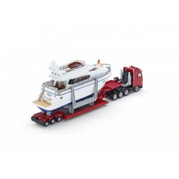 Macheta Camion Transportor Man cu yacht, scara 1:87, SIKU