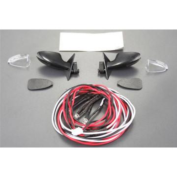 Oglinzi retrovizoare cu LED-uri pentru automodele de drift, scara 1/10