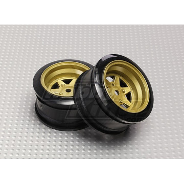 Set jante 6 spite culoare bronz 1/10 Touring/Drift 2buc