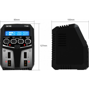 Incarcator Acumulatori SKYRC T100 Dual 2x50W LiPo NiMh LiFe1