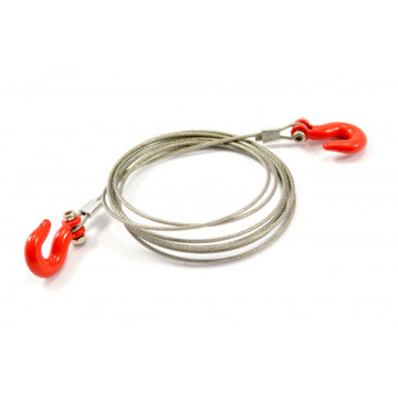 Set cablu de tractare cu carlige heavy duty metalice, pentru crawlere 1/10