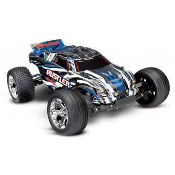 Automodel Traxxas Rustler 2WD Electric RTR TQ-Albastru
