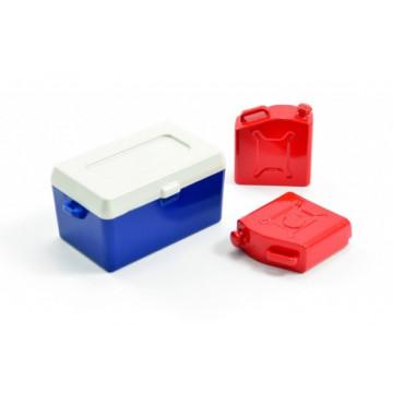 Lada frigorifica si canistre pentru automodele RC scale, scara 1/10