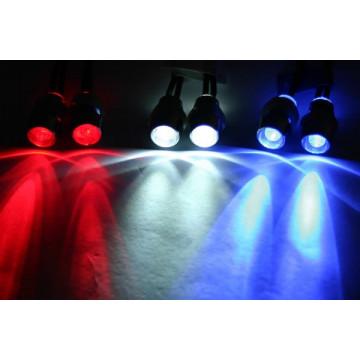 Lumini cu 4 LED-uri Albastre cu suporti fixare caroserie