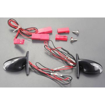 Oglinzi retrovizoare cu LED-uri albe pentru automodele de drift, scara 1/10