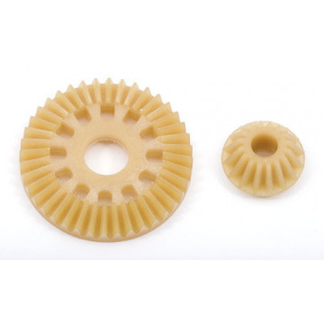 Coroana diferential si pinion (40 si 16Z), plastic pentru B44/44.1/TC4