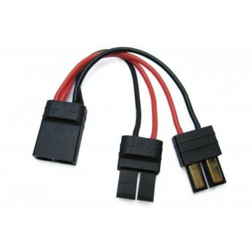 Cablu cu conectori Traxxas pentru montare acumulatori in paralel