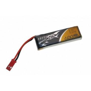 Acumulator lipo Tattu 1S 3.7V 600 mah 30C