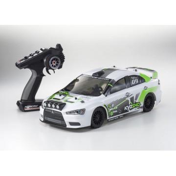 Automodel electric Rally 1/10 KYOSHO EP FAZER VE Mitsubishi Lancer Evo-X KX1, culoare alba