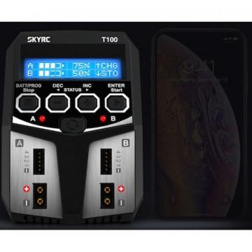 Incarcator Acumulatori SKYRC T100 Dual 2x50W LiPo NiMh LiFe 4