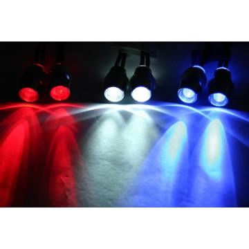Lumini cu LED-uri rosii cu suporti fixare pentru automodele(2 buc)