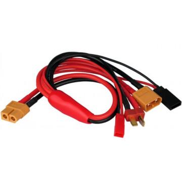 Cablu incarcare cu iesiri multiple - XT60, Deans, Futaba, JST