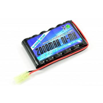 Acumulator NiMh 2000 mAh 7.2V flat pack, cu conector minia Tamiya