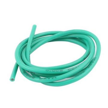Cablu electric cu invelis siliconic 14 AWG - Verde, 1m lungime