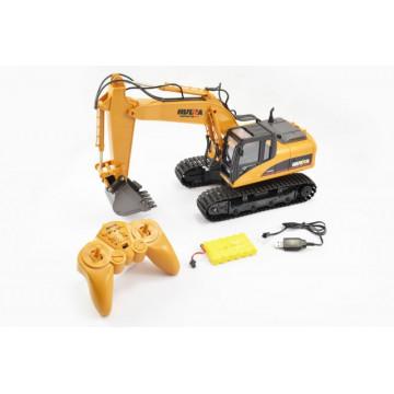 Excavator cu telecomanda HUINA, scara 1/14 2.4Ghz -16 Functii